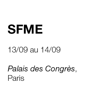 CONGRES SFME PARIS 2019
