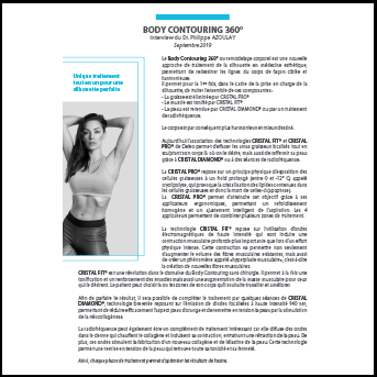 Body Contouring 360° - Interview du Dr. Philippe AZOULAY - Septembre 2019